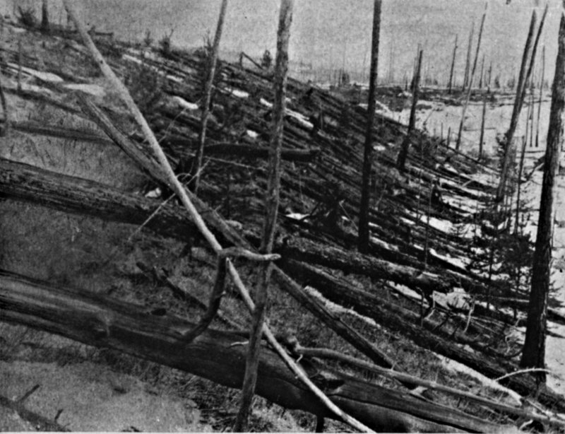 Après l'explosion d'un astéroïde, 30 juin 1908 vers Tungunska
