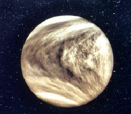 Photo de Vénus prise le 5 Février 1974 par la sonde Mariner 10