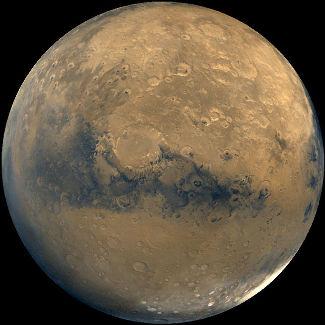 Image générale de l'hémisphère de Schiaparelli de Mars