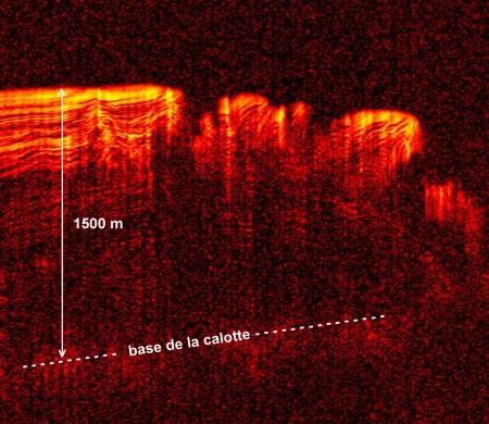 Structure fine de la calotte polaire résiduelle Nord vue par le radar SHARAD de la mission Mars Reconnaissance Orbiter