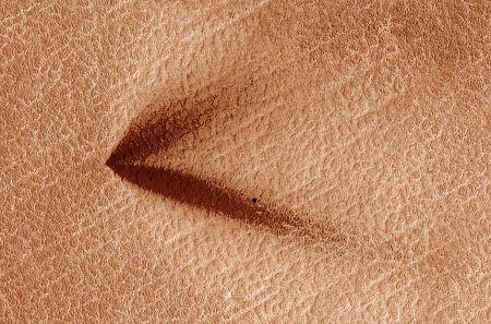 Calotte polaire Sud de Mars: éventails «doubles»