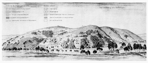 Ancienne vue du flanc Sud du Badberg (435m d'altitude) au coeur du Kaiserstuhl