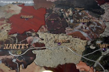 Détail de la région des Pays de la Loire