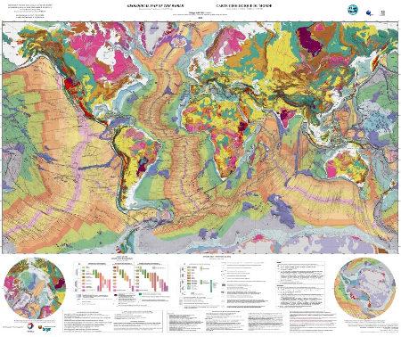 La carte géologique du Monde au 1/35M, 3e édition révisée, 2014
