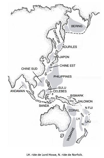 Les bassins marginaux du Pacifique