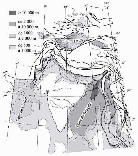 Les bassins sédimentaires induits et alimentés par la collision Inde-Asie