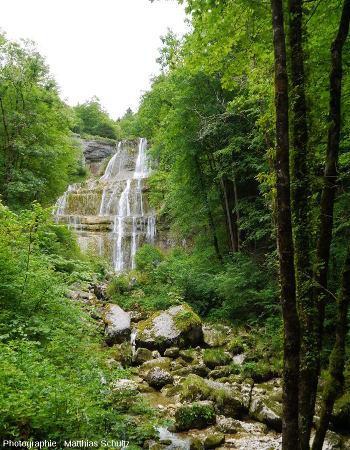 La cascade dite de l'Éventail sur le Hérisson (Jura)
