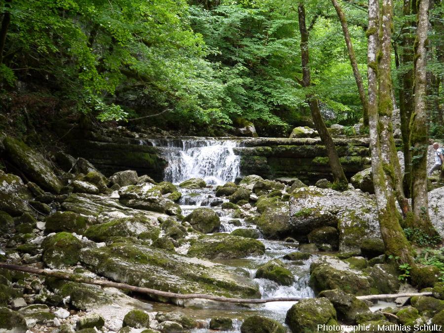 Petit saut sur le Hérisson en amont de la cascade de l'Éventail
