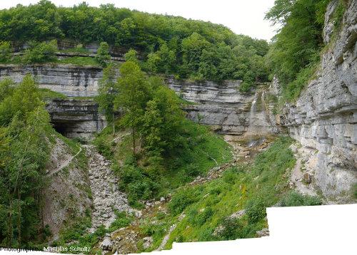 Le Grand Saut(ou Queue de Cheval) un peu plus en amont sur le Hérisson (Jura)