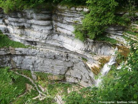 Vue depuis le Grand Saut(ou Queue de Cheval), sur le Hérisson (Jura)