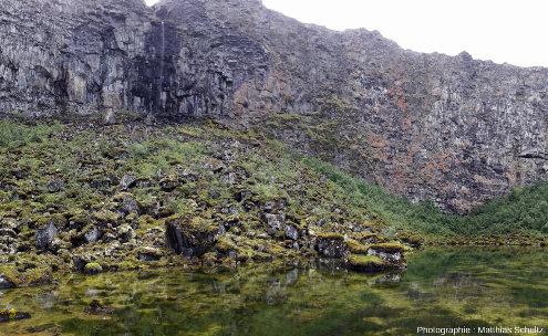 Le fond d'Ásbyrgi (Islande) côté amont (Sud)