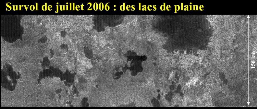 Les premières images de lacs sur Titan, publiées en juillet 2006