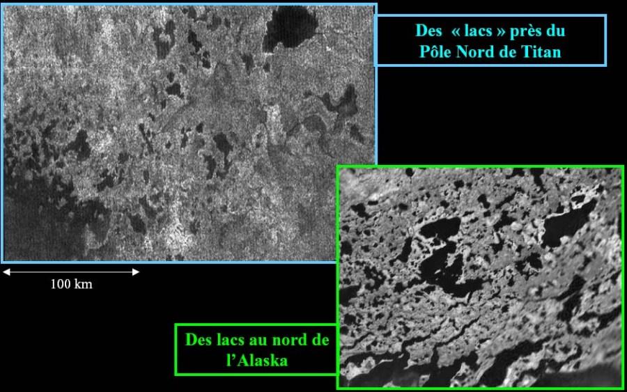 Comparaison entre lacs de Titan et lacs du grand Nord américain