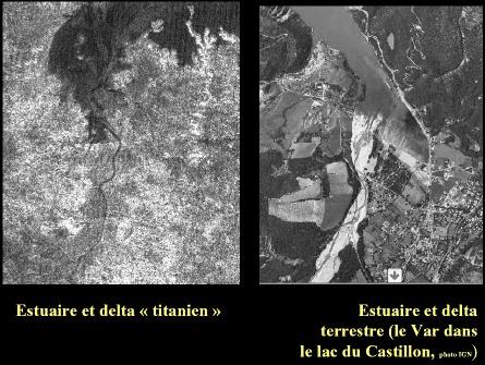 Estuaires deltaïques sur Titan et sur Terre