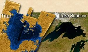 Taille comparée du plus grand lac de Titan imagé en entier et du lac Supérieur