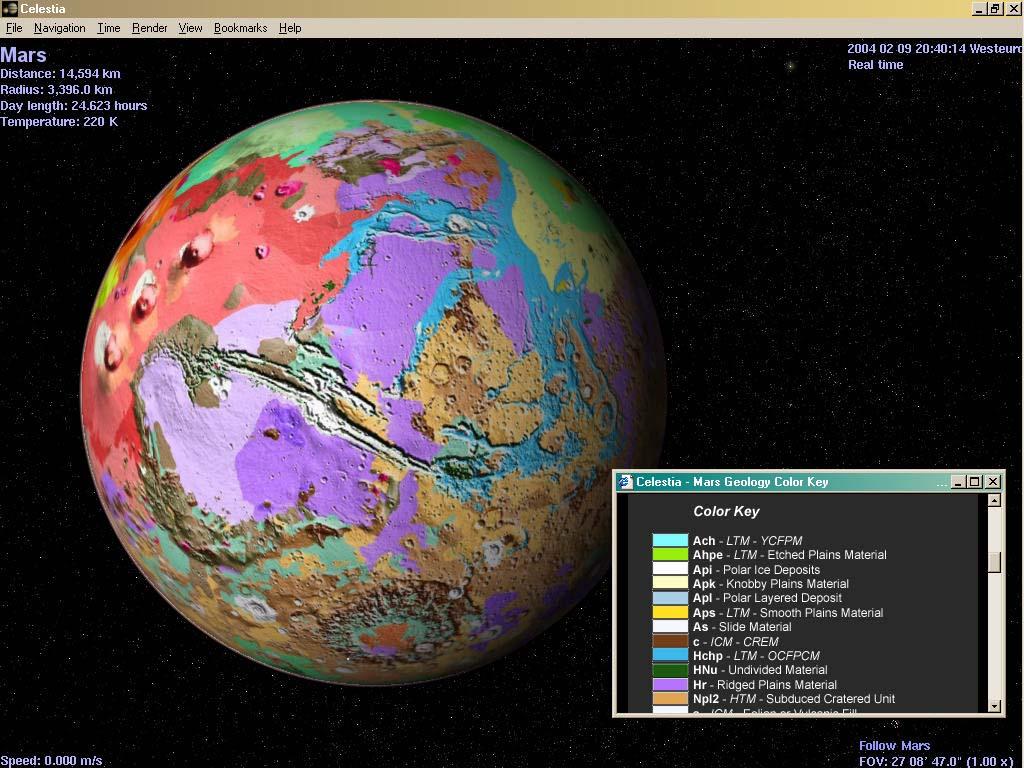 Carte géologique de Mars