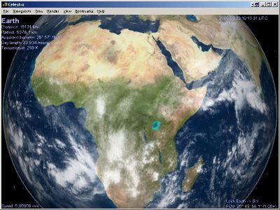 3ème étape: visualisation de l'ombre de la Lune sur l'Afrique (à proximité de la Libye)