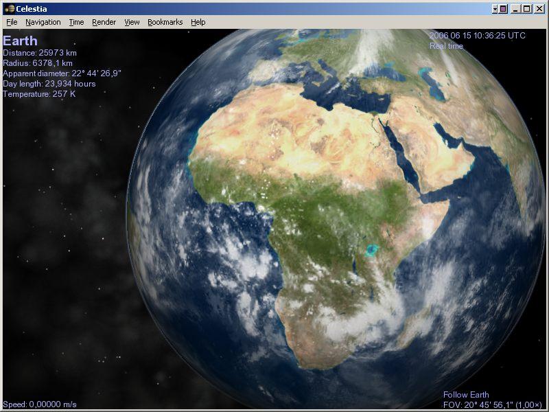 Comparaison avec une vue de l'Afrique prise sans éclipse