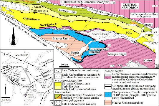 Schéma tectonique du domaine ligérien