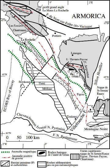 Structure géophysique du Bassin Aquitain