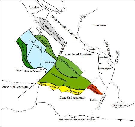 Schéma structural des unités varisques du Bassin Aquitain