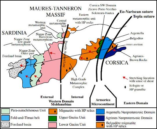 Corrélations structurales entre les massifs des Maures-Tanneron, la Sardaigne et la Corse