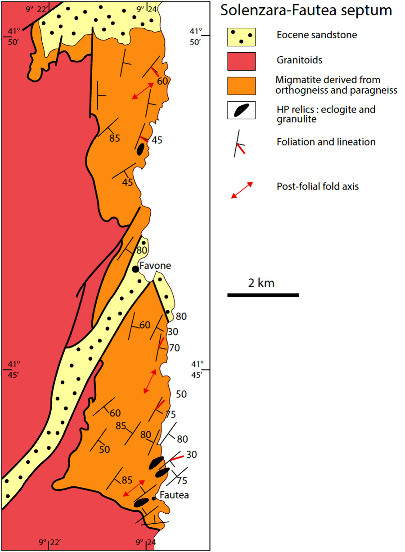 Schéma structural du septum de Solenzara-Fautea (Corse)
