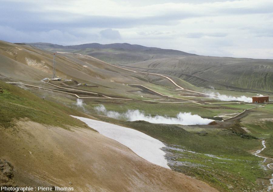 Une centrale géothermique très haute température: la centrale du Krafla en Islande