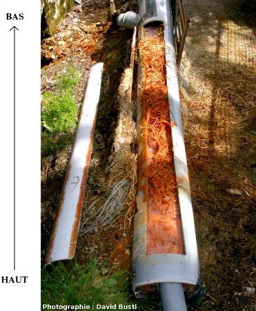 Vue d'ensemble de la canalisation après ouverture de celle-ci
