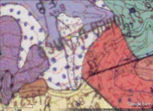 """La """"coulée de lave"""" de Bourrianne, """"éboulis"""" de basalte (Haute-Loire)"""