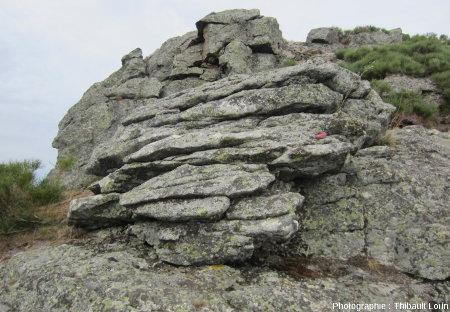 Des chirats avec traces de cryoclastie de surface