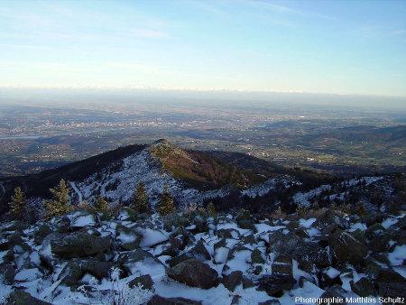 Chirats au Pic des Trois Dents, neige sur versants Nord en octobre