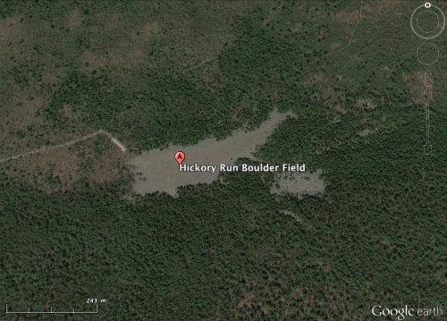 "Un ""chirat américain"", le Hickory Run Boulder Field, dans le Hickory Run State Park (Pennsylvanie, USA)"