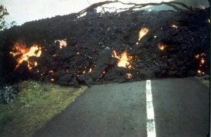 Coulée de lave à Hawaï