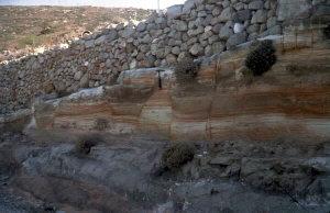 Terrains pliocènes en Grèce
