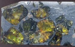 Pallasites (météorites différenciées).