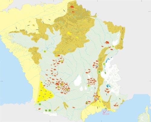 La France au dernier maximum glaciaire (18000 ±2000ans BP)