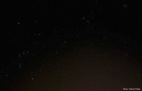La comète C/2014 Q2 Lovejoy, le soir du 12 janvier 2015, dans la constellation du Taureau