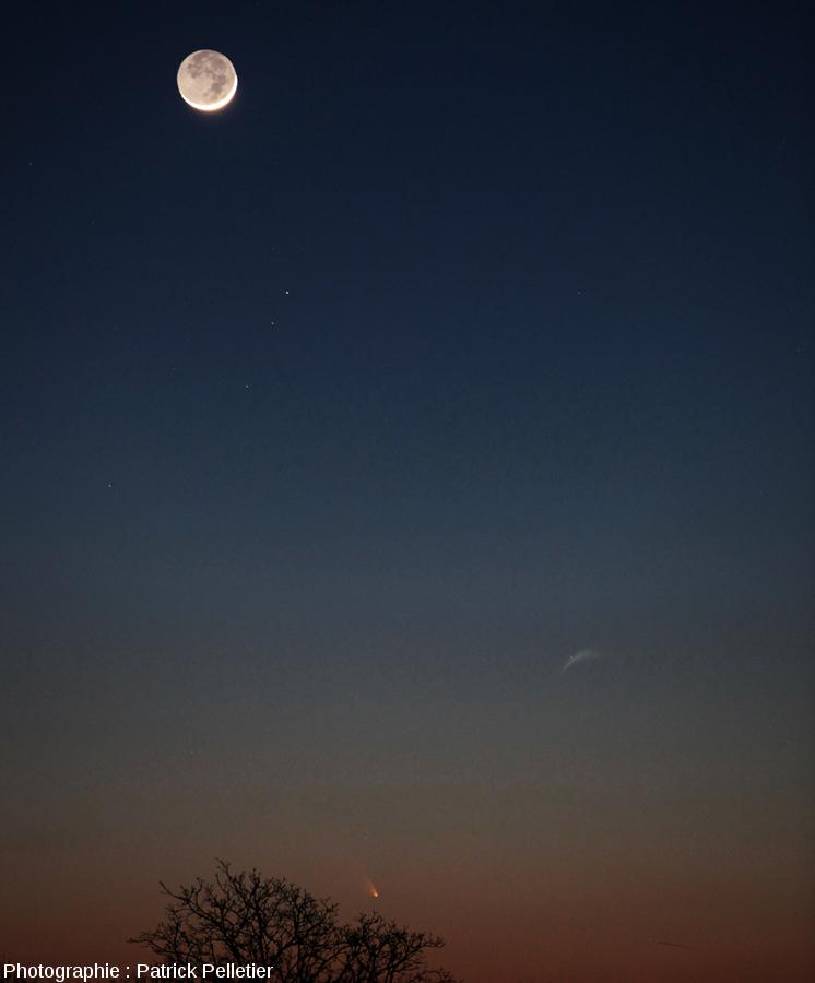 La comète Panstarrs vue depuis la région de Vichy, 13 mars 2013 à 19h53