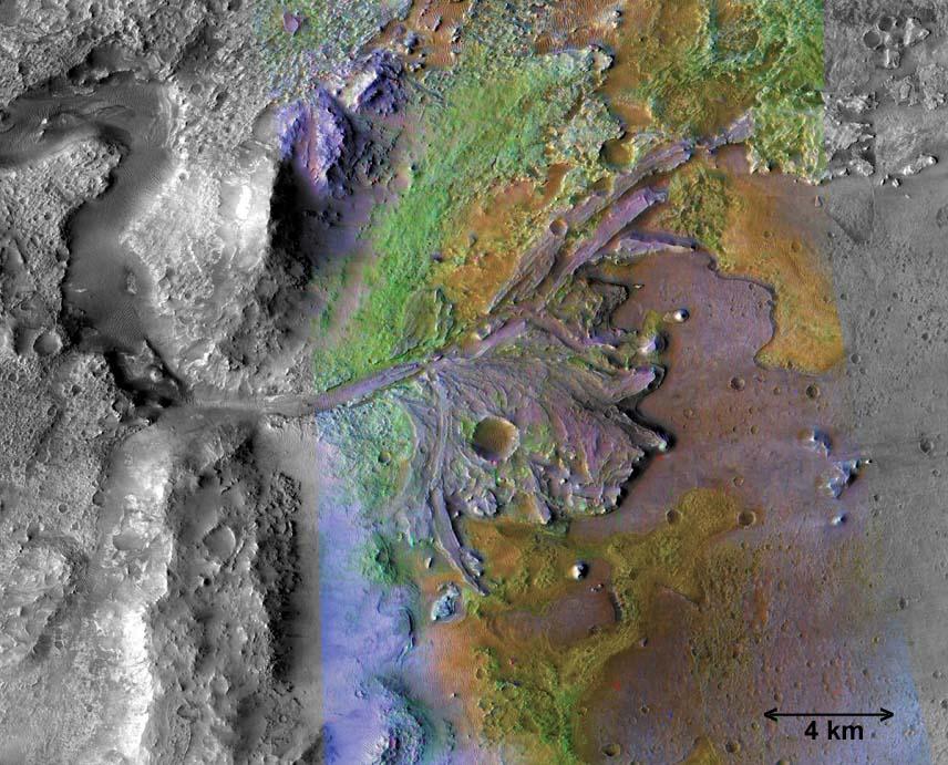 Résumé de l'histoire humide de Mars