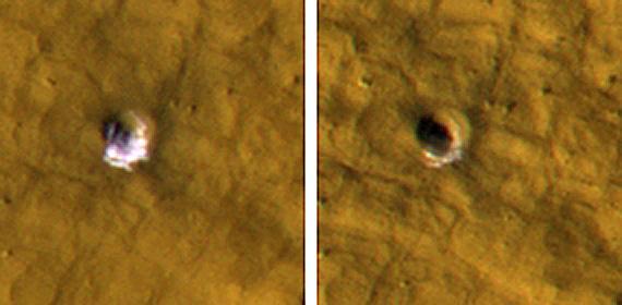Preuve de l'abondance de glace d'eau dans le sous-sol martien