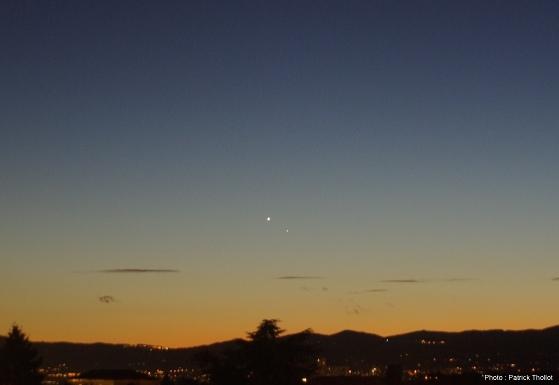 Vénus et Mercure dans le ciel lyonnais, 10 janvier 2015