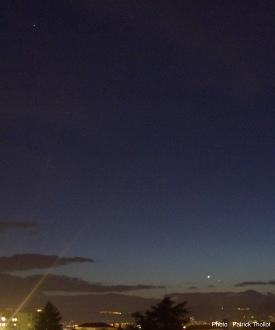 Mars visible à proximité de Vénus et Mercure, 11 janvier 2015