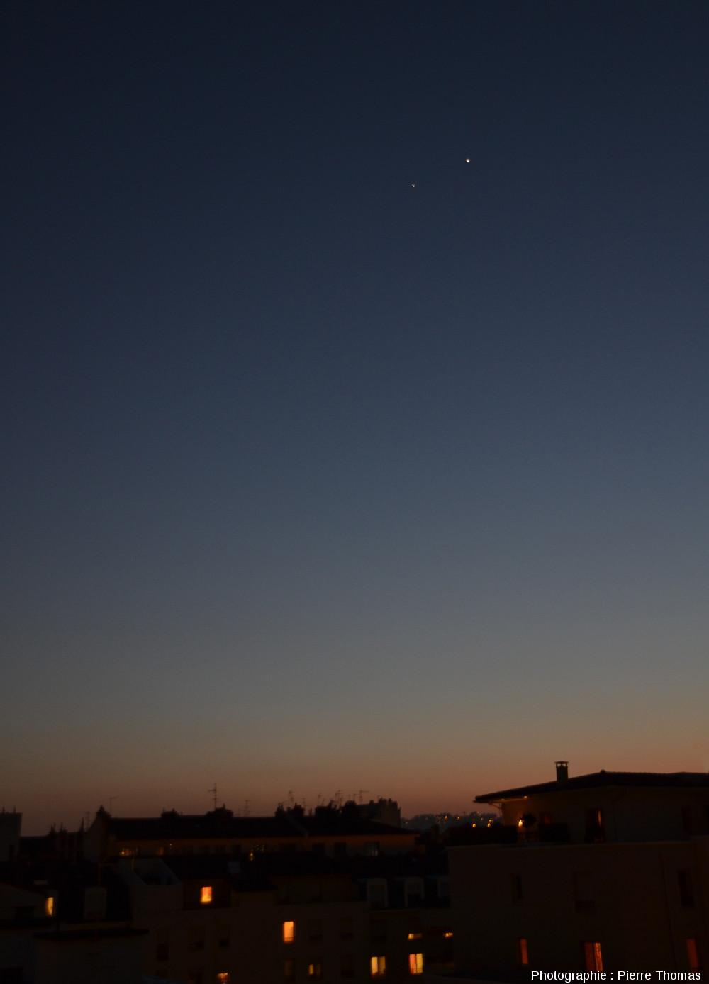 Conjonction Jupiter - Vénus, 13 mars 2012