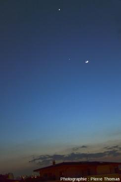 Conjonction Vénus - Jupiter - Lune, 25 mars 2012