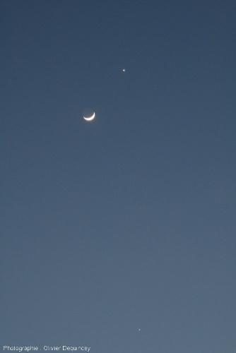 Triple conjonction Vénus - Jupiter - Lune, 26 mars 2012