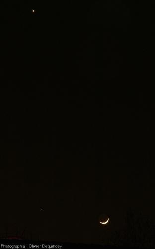 Triple conjonction Vénus - Jupiter - Lune, 25 mars 2012
