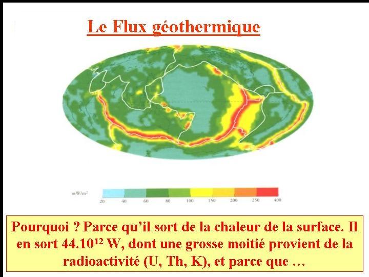 Carte du flux géothermique à la surface de la Terre