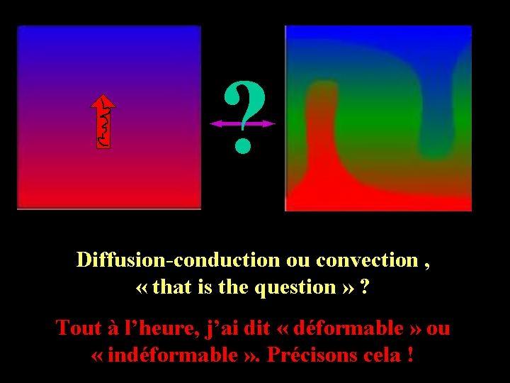 Diffusion ou convection