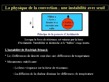 Physique de la convection (1/2)